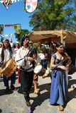 Средневековые музыканты, Испания Стоковые Фото