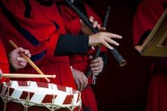 средневековые музыканты Стоковое Изображение