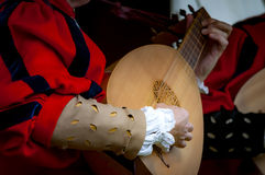 средневековые музыканты Стоковая Фотография RF
