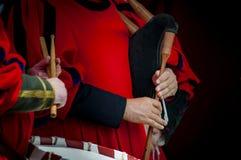 средневековые музыканты Стоковые Изображения RF
