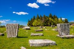 Средневековые надгробные плиты в Босния и Герцеговина Стоковое Изображение