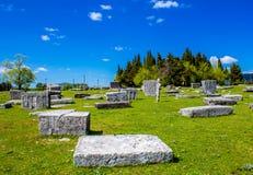 Средневековые надгробные плиты в Босния и Герцеговина Стоковые Фото