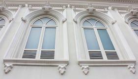 средневековые окна Стоковое Изображение RF