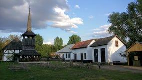 Средневековые дома в Венгрии Стоковое Фото
