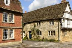 Средневековые дома, Lacock Стоковое Изображение RF