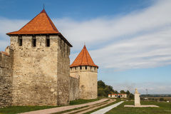 Средневековые руины замка в гибочном устройстве, Приднестровье Стоковое Изображение