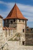 Средневековые руины замка в гибочном устройстве, Приднестровье Стоковое фото RF