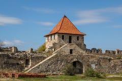 Средневековые руины замка в гибочном устройстве, Приднестровье Стоковые Фото