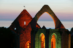 Средневековые руины St.Katarina в Visby.JH Стоковое Фото
