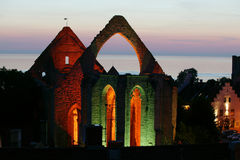 Средневековые руины St.Katarina в Visby.JH Стоковое Изображение RF