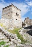 Средневековые сторожевая башня и лестницы Стоковые Изображения RF