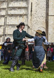 Средневековые танцоры Стоковое фото RF