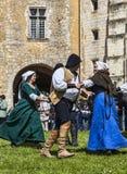 Средневековые танцоры Стоковая Фотография