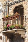 Средневековый балкон Стоковое Изображение RF
