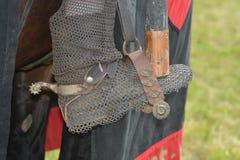 Средневековый ботинок катания в стремени Стоковое фото RF