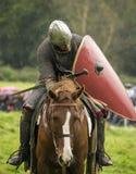 средневековый воин Стоковая Фотография
