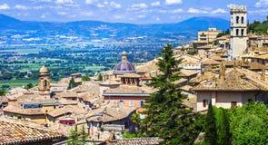 Средневековый городок Assisi, Умбрии, Италии стоковое фото