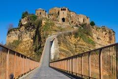 Средневековый городок Civita di Bagnoregio Стоковое Фото