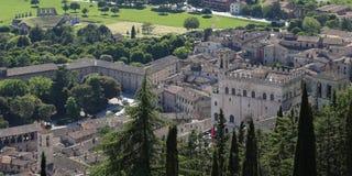 Средневековый городок Gubbio в Умбрии Стоковое Изображение RF