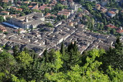 Средневековый городок Gubbio в Умбрии Стоковая Фотография