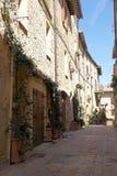 Средневековый городок Pienza, Тосканы, Италии Стоковое фото RF