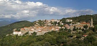 Средневековый городок Sartene, южная Корсика, Франция Стоковая Фотография RF