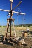 Средневековый деревянный carousel Стоковые Изображения RF