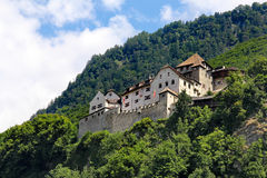 Средневековый замок, Вадуц, Лихтенштейн Стоковые Изображения RF