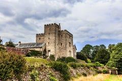 Средневековый замок в Англии Стоковые Изображения RF