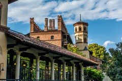 Средневековый замок в Турине, Италия Стоковые Фотографии RF