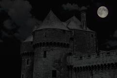 Средневековый замок в Guerande Бретани Стоковая Фотография