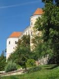 Средневековый замок в Mikulov Стоковые Изображения