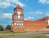 Средневековый замок в Mir Стоковое Изображение RF