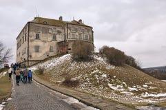 Средневековый замок в Olesko, Украине стоковая фотография rf
