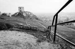 Средневековый замок в Olsztyn, Польше Стоковое Изображение RF