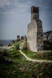 Средневековый замок в Olsztyn, Польше Стоковые Изображения RF
