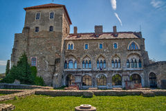 Средневековый замок в Tata, Венгрии Стоковое Изображение RF