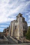 Средневековый замок в Tomar Стоковое Изображение