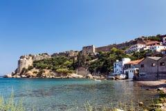 Средневековый замок Греция Стоковое Изображение RF