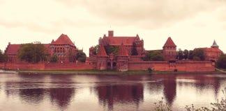 Средневековый замок Мальборка Стоковое Изображение RF