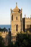 Средневековый замок морем Стоковое Изображение RF
