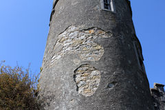 Средневековый замок, руины, Howth, залив Дублина, Ирландия Стоковая Фотография RF