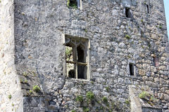 Средневековый замок, руины, Howth, залив Дублина, Ирландия стоковые изображения rf