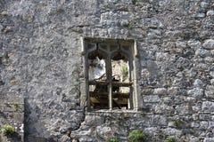 Средневековый замок, руины, Howth, залив Дублина, Ирландия стоковая фотография