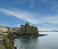 Средневековый замок, Сицилия. Италия. Стоковая Фотография