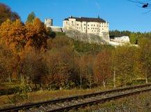 Средневековый замок чех Sternberk Стоковые Фото
