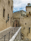 Средневековый замок Bojnice в Словакии стоковая фотография rf