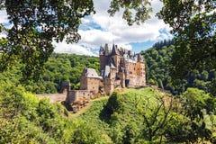 Средневековый замок Eltz в Германии Стоковые Фото