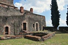 Средневековый замок hostalric Стоковая Фотография