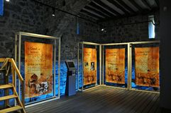 Средневековый замок junvinya Стоковое Изображение